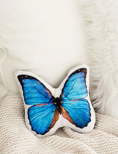Morpho Butterfly Pillow