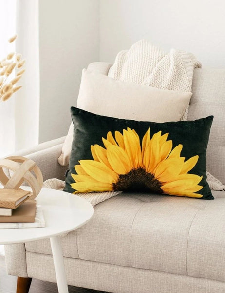 Sunflower Lumbar Pillow Aure Lines Spaces