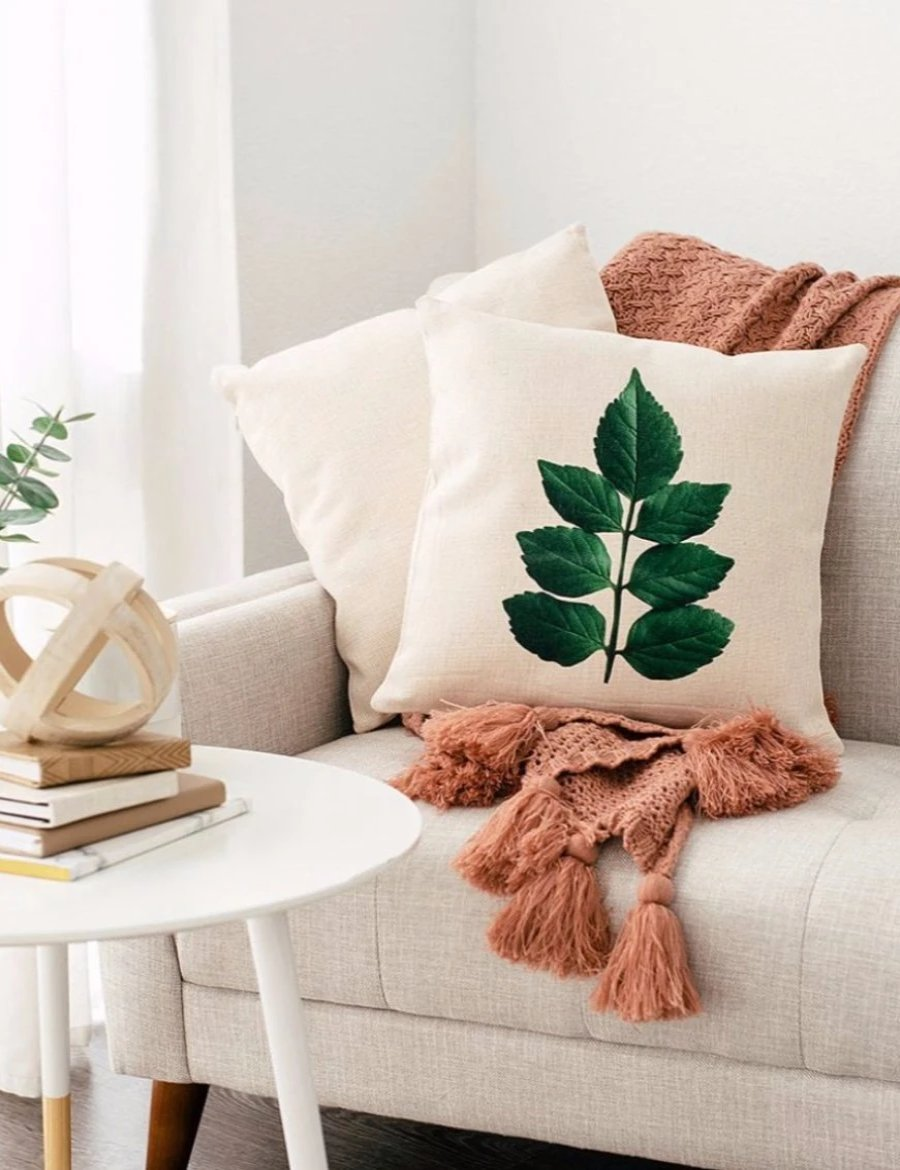 Honeysuckle Leaf Pillow Case