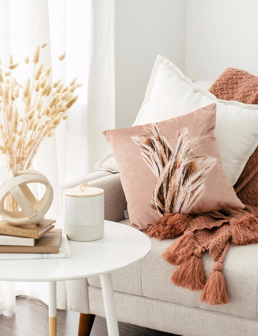 Blush Velvet Wheat Pillow