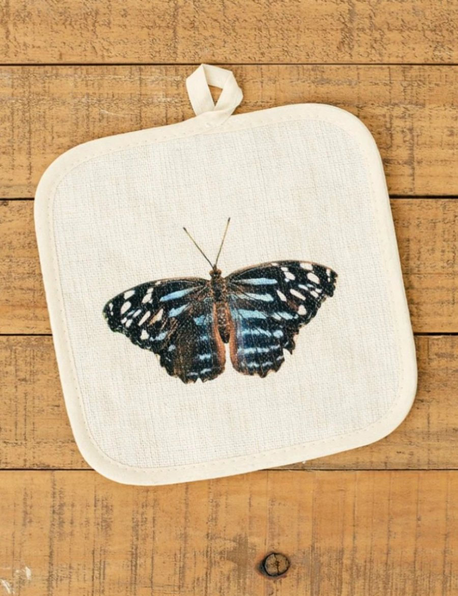 Blue Butterfly Pot Holder