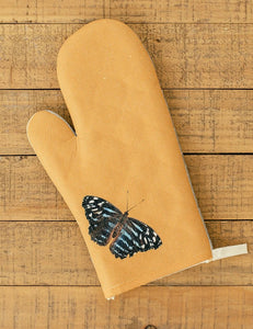 Golden Butterfly Oven Mitt