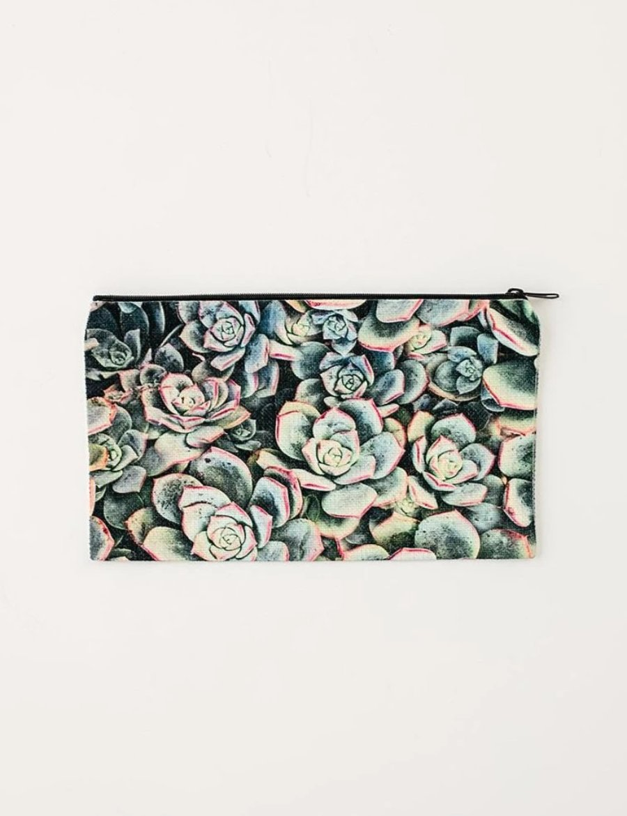 Succulent Cosmetic Pouch