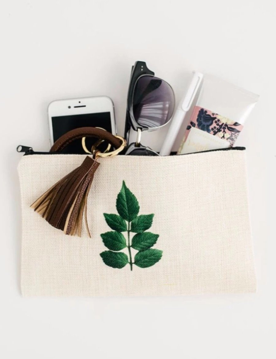 Honeysuckle Leaf Cosmetic Pouch