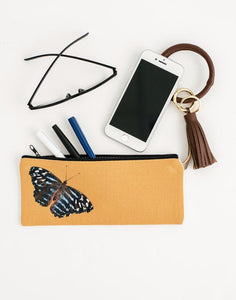 Golden Butterfly Pencil Pouch