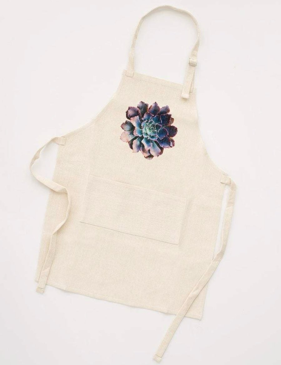 Purple Succulent Apron