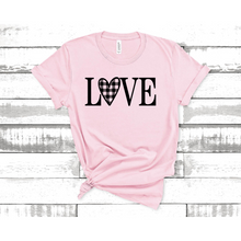 Load image into Gallery viewer, Love Plaid Graphic Tee