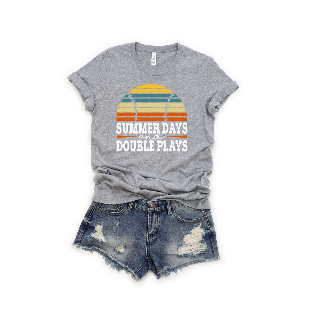 Summer Days and Double Plays graphic tee.