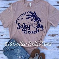No One likes a salty beach graphic tee