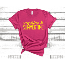Load image into Gallery viewer, Sunshine and Summertime Graphic Tee
