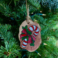 Candy Cane Christmas Ornament - Meredith Richey Art