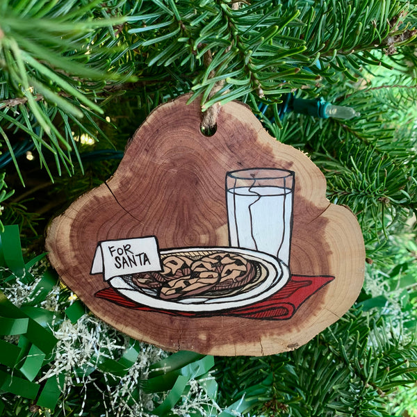 Milk and Cookies Ornament - Meredith Richey Art