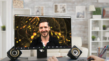 Load image into Gallery viewer, Cyberspace (Gold) ZOOM Digital Video Conference Background