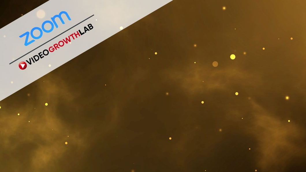 Gold Particles ZOOM Digital Video Conference Background