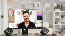 Load image into Gallery viewer, Living Room TV - House (B) ZOOM Video Conference Background
