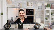 Load image into Gallery viewer, Living Room TV & Fireplace ZOOM Video Conference Background