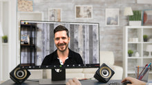 Load image into Gallery viewer, Office Gray Wood Wall (B) ZOOM Video Conference Background