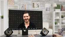 Load image into Gallery viewer, Plus Pattern (Dark) ZOOM Digital Video Conference Background
