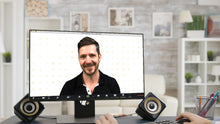 Load image into Gallery viewer, Plus Pattern (White) ZOOM Digital Video Conference Background