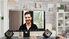 Load image into Gallery viewer, Small Living Room Window (B) ZOOM Video Conference Background