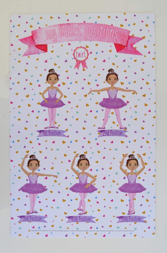 Ballet Positions Print