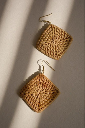Square Wicker Earrings