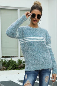 Racer Stripe Hairy Sweater