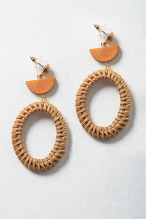 Half-Moon Wicker Earrings