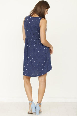 Curvy Tribal Polka Dotted Dress