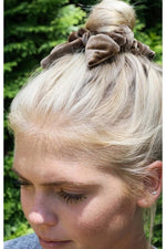 Load image into Gallery viewer, Knotted Velvet Scrunchie