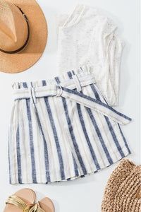 Summer Linen Paperbag Shorts