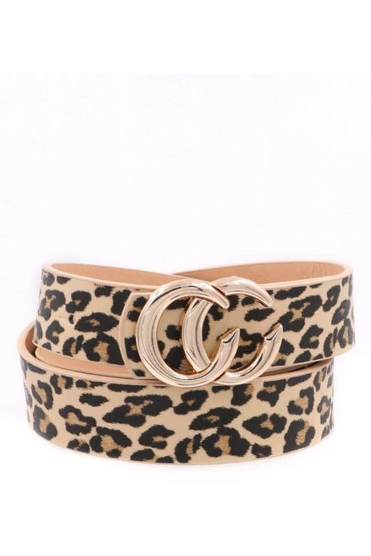 Double CC Leopard Belt