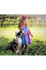 Load image into Gallery viewer, Girls Pastel Tie Dye Purple Ballerina Dress