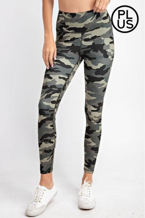 Curvy Camo Yoga Leggings