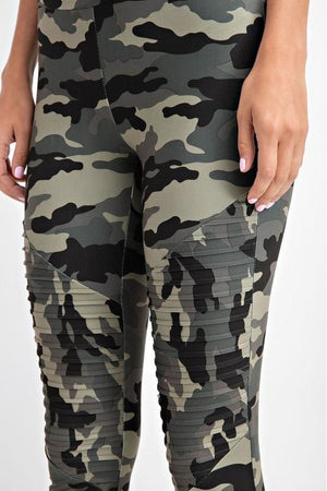 Camo Motto Leggings