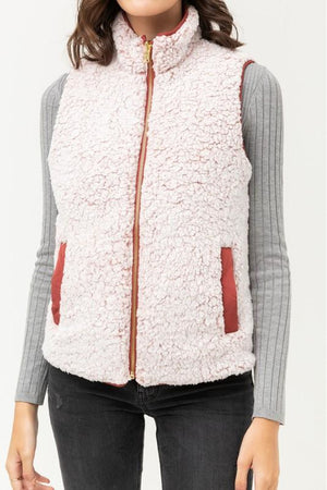 Sherpa Lined Quilted Vest