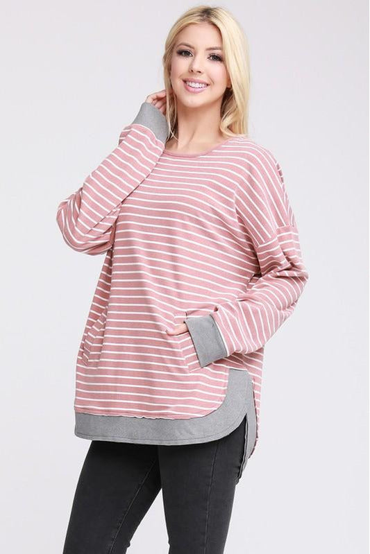 Curvy Striped Darling Sweatshirt