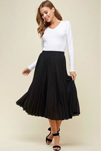 Pleated Night Out Skirt