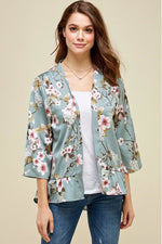 Load image into Gallery viewer, Sage Floral Kimono