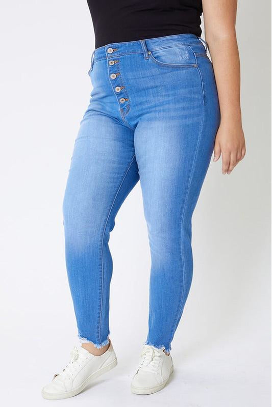 In Stock Curvy Kan Can Button Fly Jeans