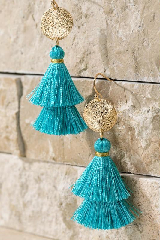 Disk & Tassel Earrings