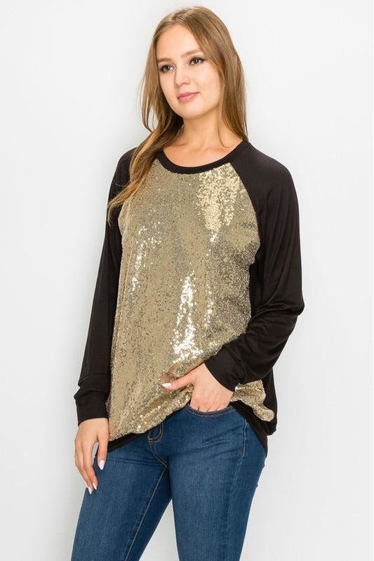 Curvy Drop The Ball Sequin Sweatshirt