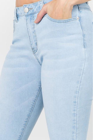 Curvy Denim Bermuda Shorts