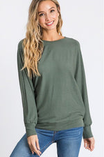 Load image into Gallery viewer, Ribbed Dolman Sleeve Top