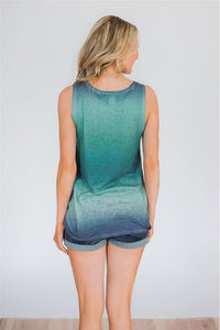 RESTOCKED Ombre Pocket Tank Top