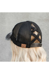 CC Crossed Ponytail Hats