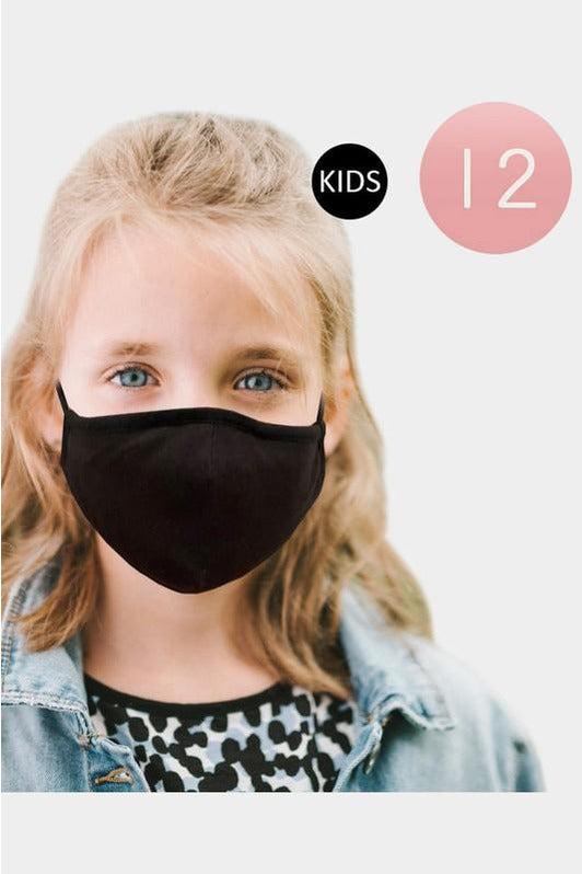 Kids Solid Color Face Coverings