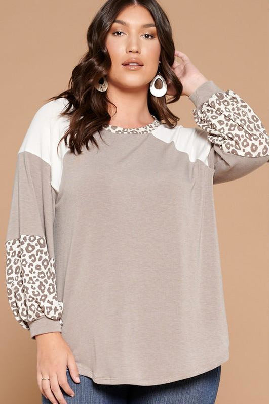Curvy Chic Leopard Detail Top