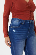 Load image into Gallery viewer, IN STOCK Curvy Kan Can High Waist Raw Ankle Jeans