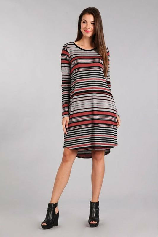 Striped Party Tunic Dress